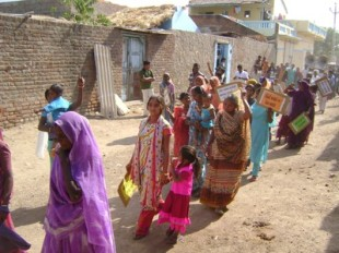 Dalits march in Lakhtar against manual scavenging in Lakhtar in January 2010