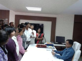 Representation in the district collector's office